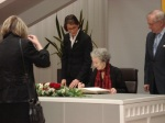 Signing Golden Book, Mayor