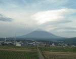 Mt. Fuji from the Kyoto train