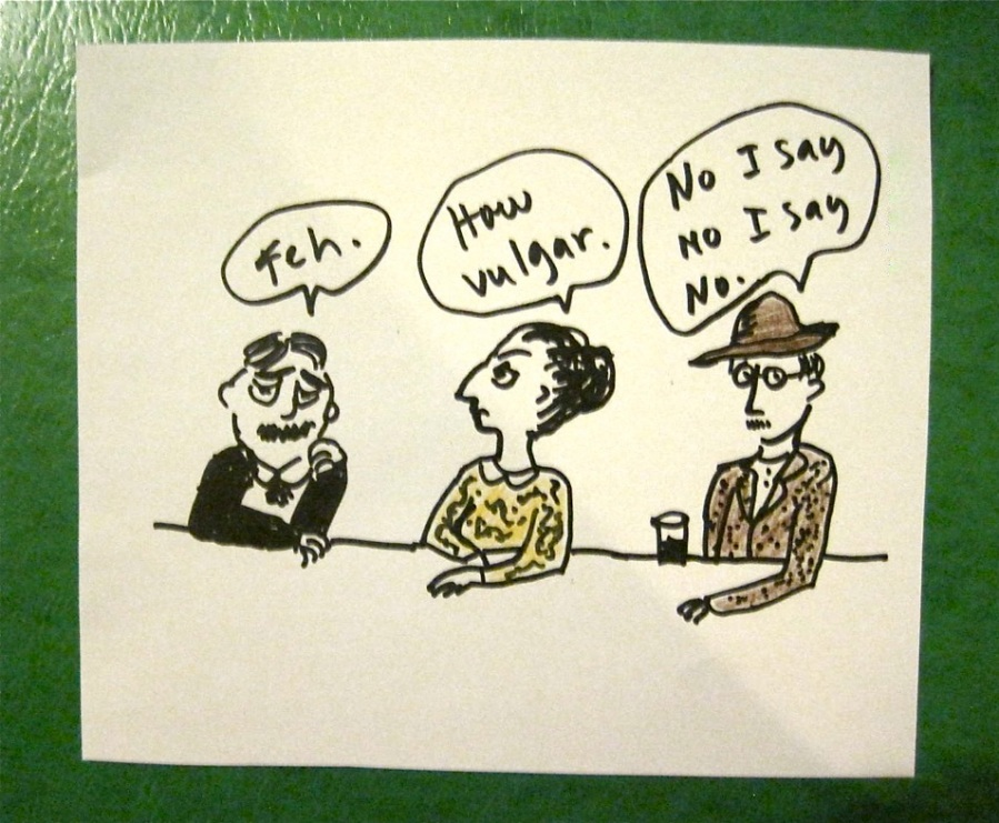 13. Modernists: Proust, Woolf, Joyce: what they'd say if asked to blog
