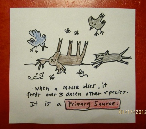 7. Dead moose